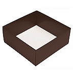Folding Carton, This Top - That Bottom, Base, 3 oz., Petite, Square, Double-Layer, Brown, QTY/CASE-50