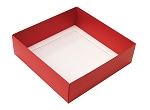 Folding Carton, This Top - That Bottom, Base, 16 oz., Square, Red, Double-Layer, QTY/CASE-50