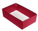 Folding Carton, This Top - That Bottom, Base, 8 oz., Rectangle, Red, Double-Layer, QTY/CASE-50