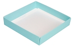 Folding Carton, This Top - That Bottom, Base, 8 oz., Square, Robin Egg Blue, Single-Layer, QTY/CASE-50