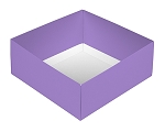 Folding Carton, This Top - That Bottom, Base, 8 oz., Square, Lavender, Double-Layer, QTY/CASE-50