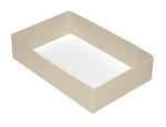 Folding Carton, This Top - That Bottom, Base, 16 oz., Rectangle, Pearlescent, Double-Layer, QTY/CASE-50