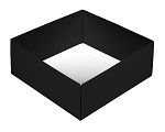 Folding Carton, This Top - That Bottom, Base, 8 oz., Square, Black, Double-Layer, QTY/CASE-50