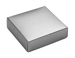 Folding Carton, This Top - That Bottom, Lid, 3 oz., Petite, Square, Metallic Silver, QTY/CASE-50