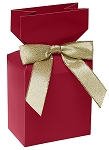 ASB-400 CLOSEOUT Pleated Top Gift Box - Red, QTY/CASE-50