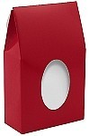 ASB-4045 CLOSEOUT Red Gable Box (no Window Film), QTY/CASE-25
