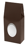 ASB-4047 Small Brown Gable Box with Window, QTY/CASE-50