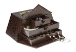 Rigid Set-Up Box, CROC Purse Box with Magnetic Closure and Chain Handle, QTY/CASE-6