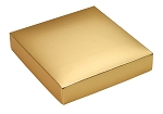 Folding Carton, This Top - That Bottom, Lid, 8 oz., Square, Metallic Gold, QTY/CASE-50
