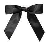 CLOSEOUT Pre-Tied Bows with Twist Ties - Black Onyx, QTY/CASE-100