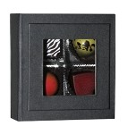 ASB-494  Petite 3 oz. Magnetic Charm Window Box Onyx, QTY/CASE-12