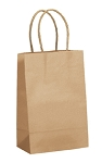 "ASB-8250 Natural Kraft Bag 5.5"" x 3.25"" x 8.375"", QTY/CASE-250"