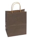 "ASB-8253 Kraft Bag, Chocolate Natural, 5.5"" x 3.25""x 8.375"", QTY/CASE-250"