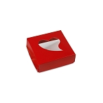 Folding Carton, Window Lid, 3 oz., Petite, Square, Whimsical Box, QTY/CASE-50