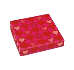 Folding Carton, Lid, 8 oz., Square, Heart-to-Heart, QTY/CASE-50