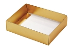 Folding Carton, This Top - That Bottom, Base, 4 oz., Rectangle, Metallic Gold, Single-Layer, QTY/CASE-50