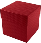 Rigid Set-up Box, Cube, 4-Tier, 5th Ave. Red, QTY/CASE-12