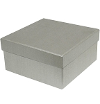 Rigid Set-up Box, Cube, 2-Tier, Silver, QTY/CASE-24