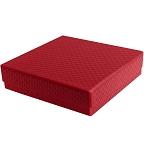 Rigid Set-up Box, Gift Box, Single-Layer, Square, 8 oz., 5th Ave. Red, QTY/CASE-24