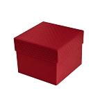 Rigid Set-up Box, Cube, 2-Tier, Petite, 5th Ave. Red, QTY/CASE-24