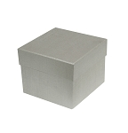 Rigid Set-up Box, Cube, 2-Tier, Petite, Silver, QTY/CASE-24