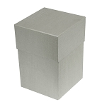Rigid Set-up Box, Cube, 4-Tier, Petite, Silver, QTY/CASE-12