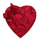 Heart Box, Bow, Passion Ivy, 8 oz., QTY/CASE-12