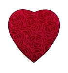 Heart Box, Rose Swirl, 8 oz., Red, QTY/CASE-12