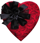 Heart Box, Roses are Red, 1 lb., QTY/CASE-6