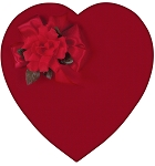 Heart Box, Satin, Red, 1 lb., QTY/CASE-6
