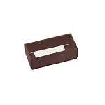 Folding Carton, 2-Piece Base, with Acetate Lid, Brown, QTY/CASE-50