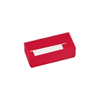 Folding Carton, 2-Piece Base, with Acetate Lid, Red, QTY/CASE-50