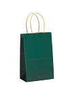 Kraft Bag, Hunter Green Natural, 5.5 in.x 3.25 in.x 8.375 in., QTY/CASE-250