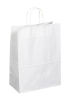 Kraft Bag, White, 13 in.x 7 in.x 17 in., QTY/CASE-250