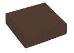 Folding Carton, This Top - That Bottom, Lid, 3 oz., Petite, Square, Brown, QTY/CASE-50