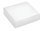 Folding Carton, This Top - That Bottom, Lid, 3 oz., Petite, Square, White, QTY/CASE-50