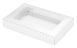Folding Carton, This Top - That Bottom, Window Lid, 8 oz., Rectangle, White, QTY/CASE-50