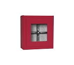 Rigid Set-Up Box, Magnetic Charm Window Box, 4-Piece, 3 oz., 5th Ave. Red, QTY/CASE-12