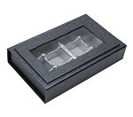Rigid Set-Up Box, Magnetic Charm Window Box, 12-Piece, 8 oz., Charcoal Sapphire, QTY/CASE-12