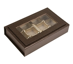 Rigid Set-Up Box, Magnetic Charm Window Box, 12-Piece, 8 oz., Deco Bronze, QTY/CASE-12