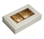 Rigid Set-Up Box, Magnetic Charm Window Box, 8 oz, Pearlescent, QTY/CASE-12