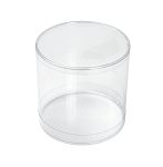Clear Plastic Packaging, Cylinder, Clear, 3-1/2 x 3-1/2, QTY/CASE-50