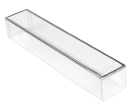 Clear Plastic Packaging, Rectangle, Silver Trim, 7-1/4 x 1-1/4 x 1-1/8, QTY/CASE-50