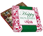 Folding Carton, Lid and Base, Gift-Sized, Square, Single-Layer, Happy Holidays, QTY/CASE-10