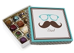 Folding Carton, Lid, 8 oz., Square, Dad Mustache Box, QTY/CASE-50