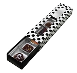 Folding Carton, Slider Box, 5-Piece, Standard, Black & White Polka Dot, QTY/CASE-50