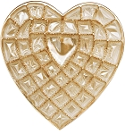 Heart Tray, Plastic, Gold, 1-1/2 lb., 42 Cavity, QTY/CASE-50
