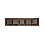 Tray, Rectangle, Standard, Brown, 5 Cavity, QTY/CASE-50