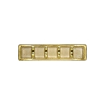 Tray, Petite, Rectangle, Gold, 5 Cavity, QTY/CASE-50