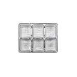 Tray, Rectangle, Silver, 4 oz., 6 Cavity, QTY/CASE-50